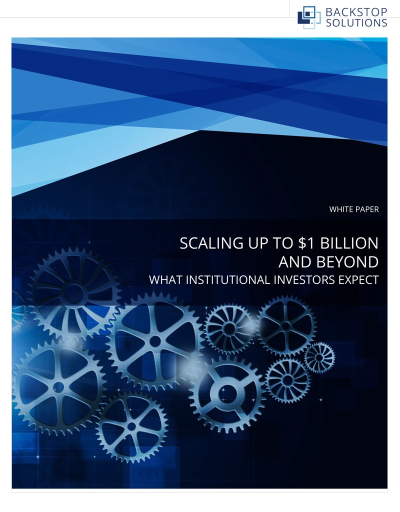 White Paper Scaling Up To 1 Billion And Beyond What Ins Utional Investors Expect