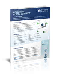 Data Sheet for Backstop Admin Connect