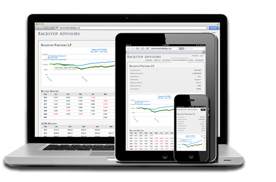InvestorBridge portal for web reporting