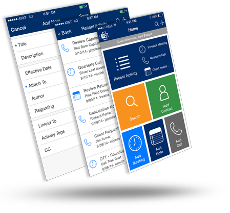 Backstop Mobile allows you to instantly access important data, easily enter meeting notes, and quickly keep up with updates back at the office – all while on the go.