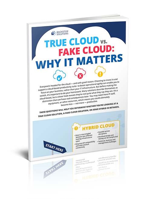 TRUE CLOUD VS. FAKE CLOUD: WHY IT MATTERS