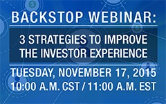 Webinar - 3 Strategies to Improve the Investor Experience
