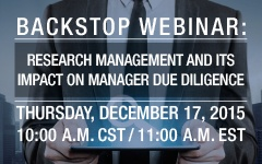 Webinar - Research Management and its impact on manager due diligence