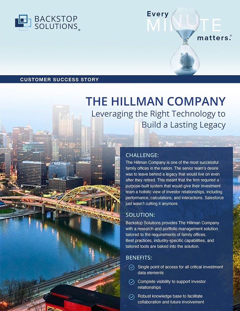 THE HILLMAN COMPANY