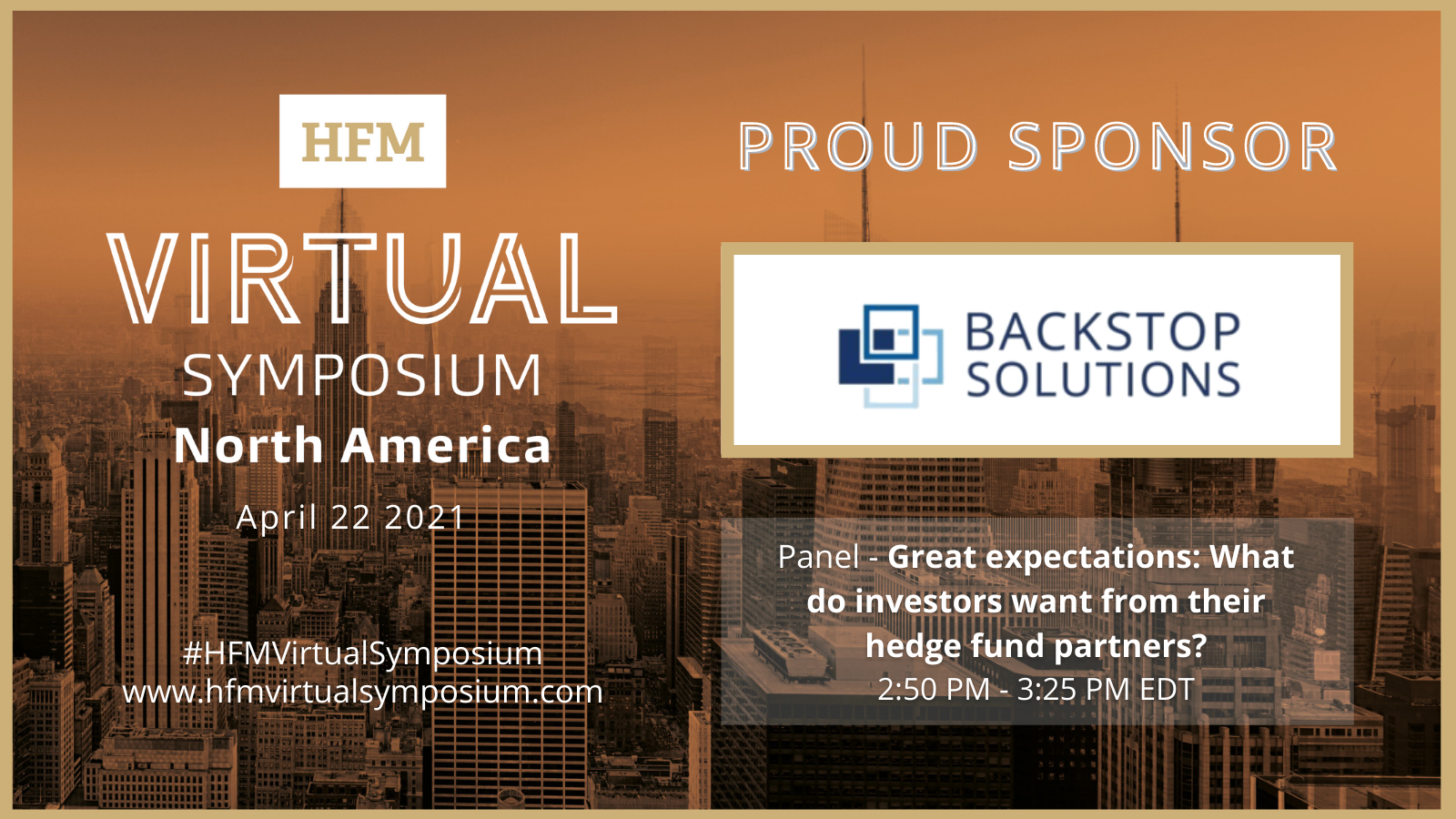 Sponsored Event Panel: Great Expectations – What do Investors want from their Hedge Fund Partners?