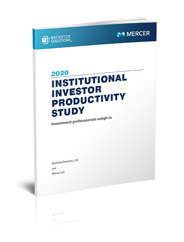 2020 Institutional Investor Productivity Report